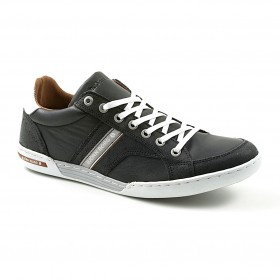 BJÖRN BORG MENS HENRY NAPPA Black-Warm Red, vapaa-ajan tennarit