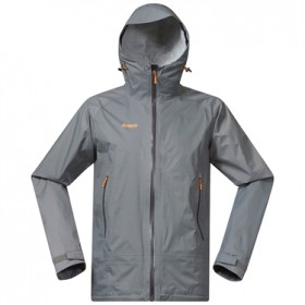 BERGANS SKY JKT SOLID GREY/SOLID CHARCOAL/PUMPKIN