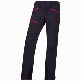 BERGANS OF NORWAY OKLA LADY PNT BLACK/HOT PINK, naisten ulkoiluhousut