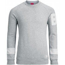 Björn Borg Mens Crew Neck Lynx, Light Grey Melange