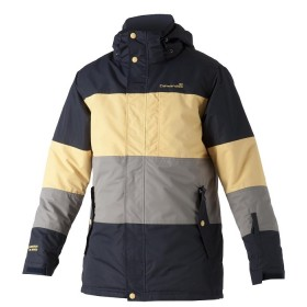 CATMANDOO CLAUDE, men's padded jacket with blue-gray-yellow