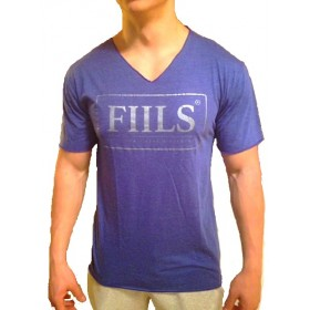 FIILS MENS V-NECK T-SHIRT Blue