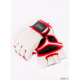 FIILS MMA GLOVES COWHIDE LEATHER white, vapaa-ottelu hanskat