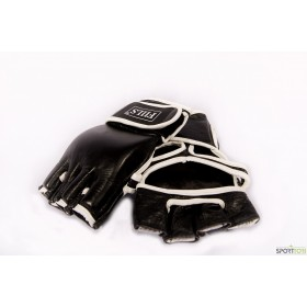 FIILS MMA GLOVES COWHIDE LEATHER Black, vapaa-ottelu hanskat