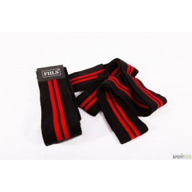FIILS KNEE WRAP Black-Red Pair, polvisiteet pari