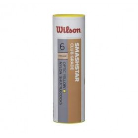 WILSON SMASH 6 STAR TUBE YELLOW, badminton feather