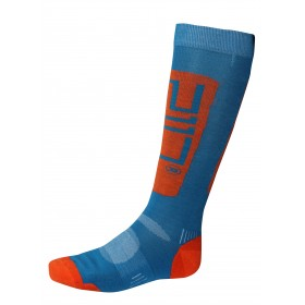 2117 OF SWEDEN SÄLKA MENS SKI SOCK, blue/signal orange