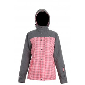 2117 OF SWEDEN SLUGGA WOMENS LIGHT PADDED SKI JACKET, diva pink AOP
