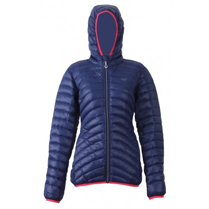 2117 OF SWEDEN KOBÅSET WOMENS LIGHT DOWN JACKET W.HOOD, naisten kevyt untuvatakki sininen