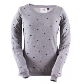 2117 OF SWEDEN UVERED W PRINTED SWEATER grey mel, naisten paita