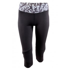 2117 OF SWEDEN LINKÖPING W 3/4 RUN TIGHTS BLACK, naisten 3/4 juoksuhousut