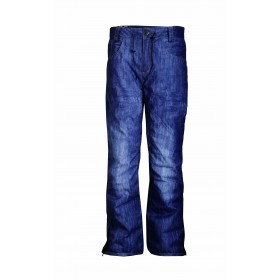 2117 OF SWEDEN BRÄCKE MENS LIGHT SKI PANTS, miesten kevyt lasketteluhousu denim AOP