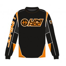 UNIHOC GOALIE SWEATER OPTIMA, black/neon orange