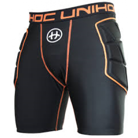 UNIHOC GOALIE SHORTS FLOW, black