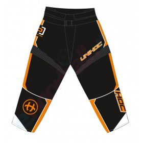 UNIHOC GOALIE PANTS OPTIMA, black/neon orange