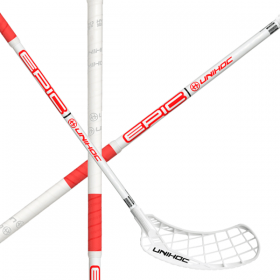 UNIHOC EPIC STL 26 neon white/red 100cm