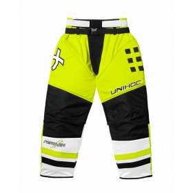 UNIHOC GOALIE PANTS FEATHER, neon yellow