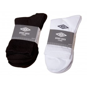 Umbro Diamond Socks 3-Pack Black