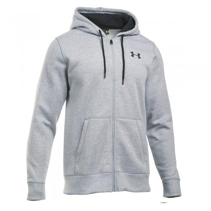 UNDER ARMOUR STORM RIVAL COTTON FULL ZIP TRUE GREY HEATHER, miesten huppari