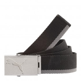 PUMA Core Webbing Belt Silver-Black