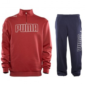 Puma Sweeper Suit Red-Dark Blue