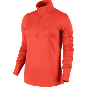 NIKE WMNS RACER LS 1/2 ZIP TOP Red