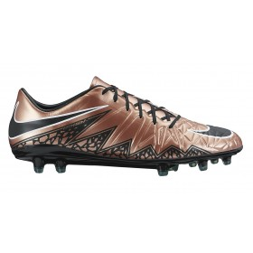 NIKE ( Adult ) HYPERVENOM PHADE II FG Brown-Chrome