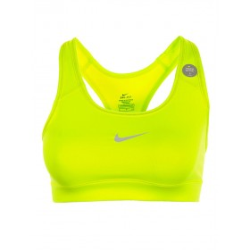 Nike Pro Victory Compression Sports Bra Yellow
