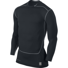 NIKE CORE COMPRESSION LS MOCK 2.0 Black