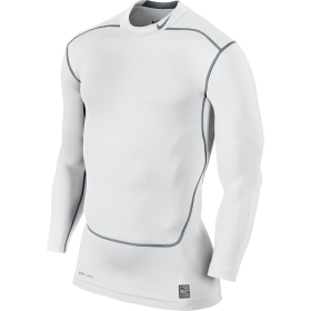 NIKE CORE COMPRESSION LS MOCK 2.0 White
