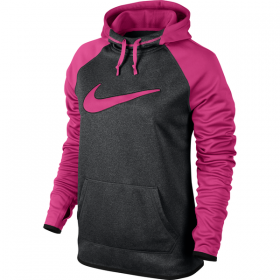 NIKE ALL TIME SWOOSH GRX HDY Black heather-Pink
