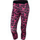 NIKE FA15 PRINTED RELAY CROP Pink-Black