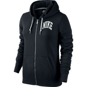 NIKE WMNS CLUB FZ HOODY-GRAPHIC 3 Black