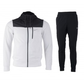NIKE MENS AV15 PLY KNIT TRACK SUIT Black-White