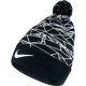 NIKE NSW WINTERIZE POM BEANIE Black-White