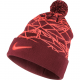NIKE NSW WINTERIZE POM BEANIE Red