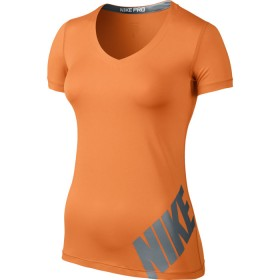 NIKE PRO LOGO SS TOP Orange