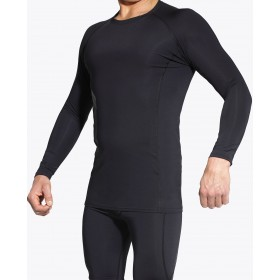Zero Point Long Sleeve (M) Power Compression Top Black-Grey, REMOVAL PRODUCT