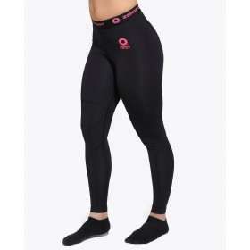 ZERO POINT POWER COMPRESSION TIGHTS WOMEN BLACK-PINK