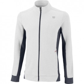 WILSON MENS RUSH KNIT JACKET white, collegetakki valk.