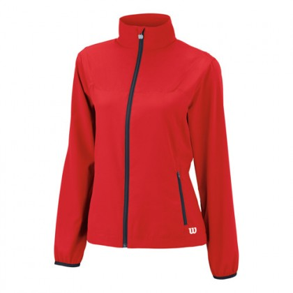 WILSON WOMENS TEAM WOWEN JACKET RED, ulkoilutakki